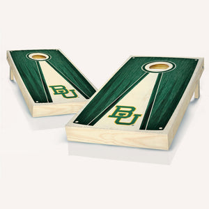 Baylor Bears Stained Pyramid Cornhole Boards