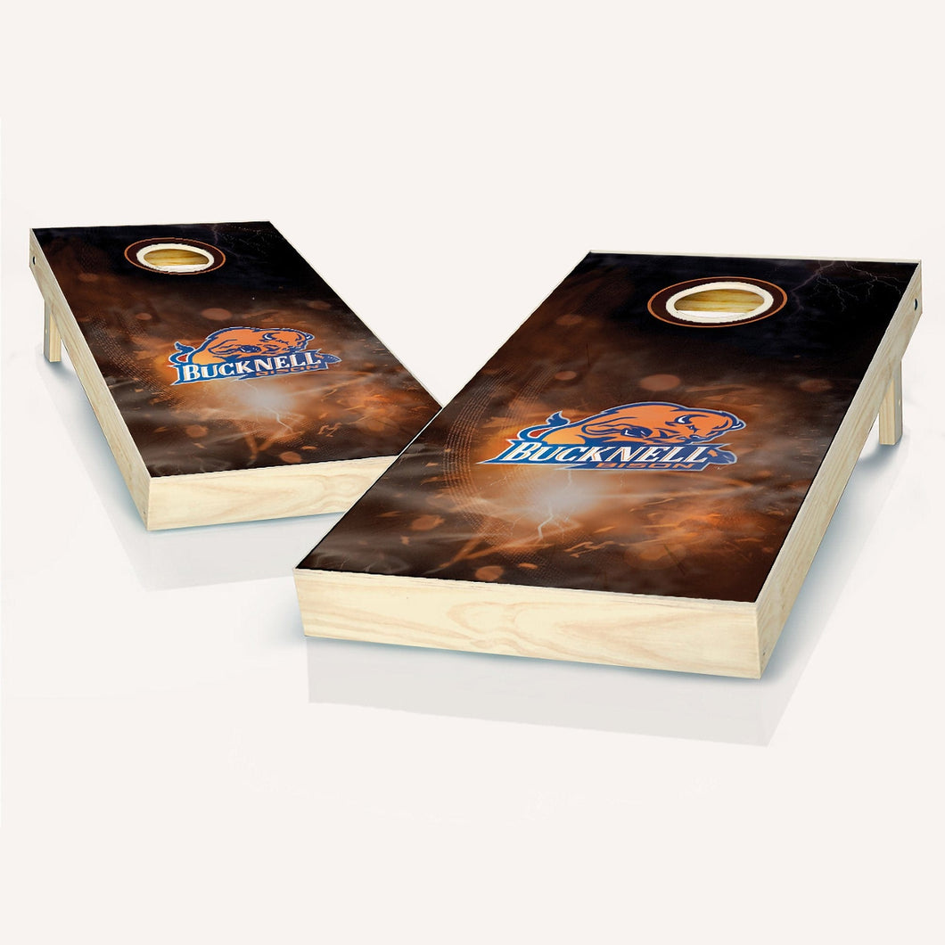 Bucknell Bison Smoke Cornhole Boards