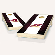 Load image into Gallery viewer, Central Michigan Chippewas Striped Cornhole Boards