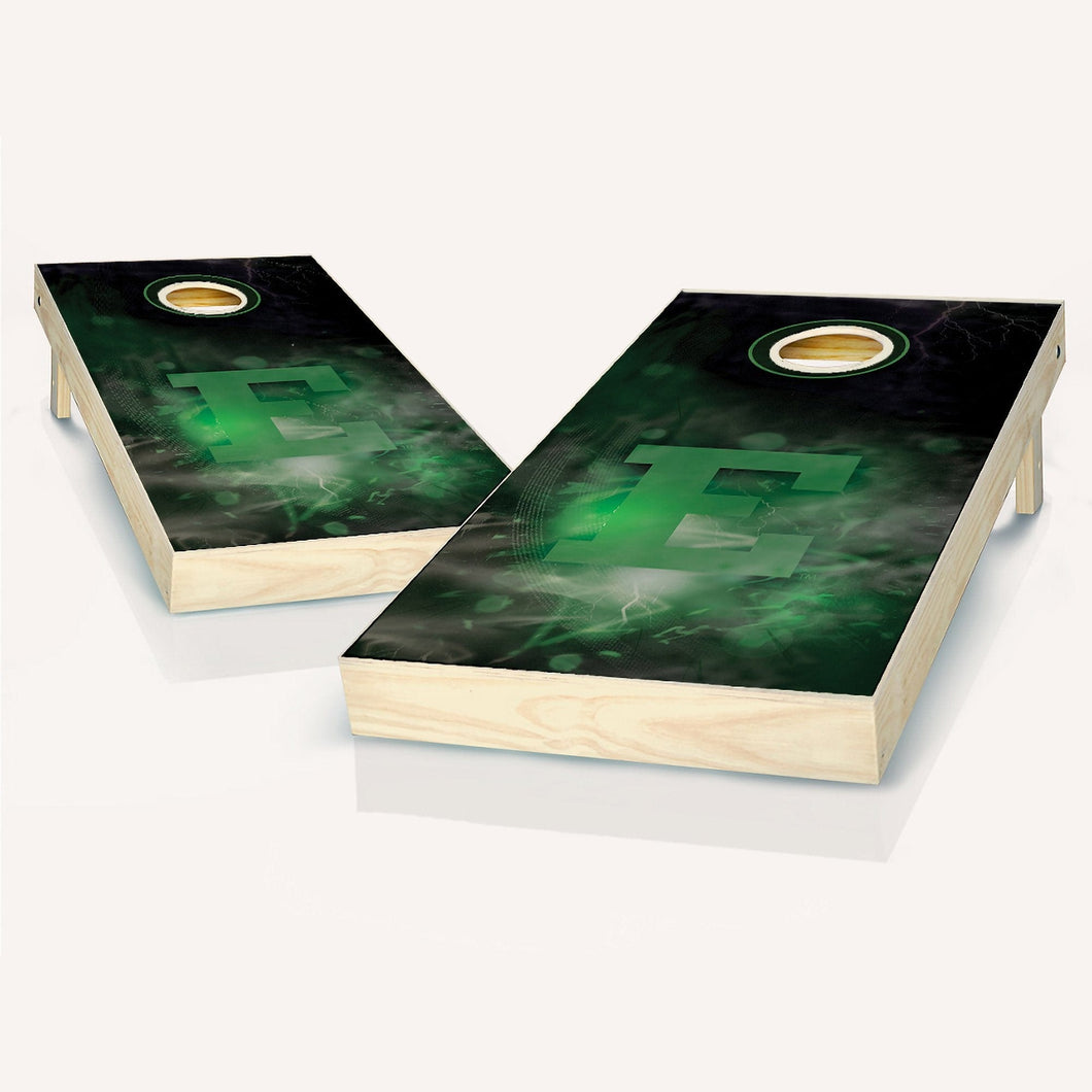 Eastern Michigan Eagles Smoke Cornhole Boards
