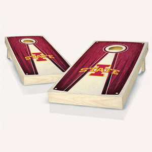 Iowa State Cyclones Stained Pyramid Cornhole Boards