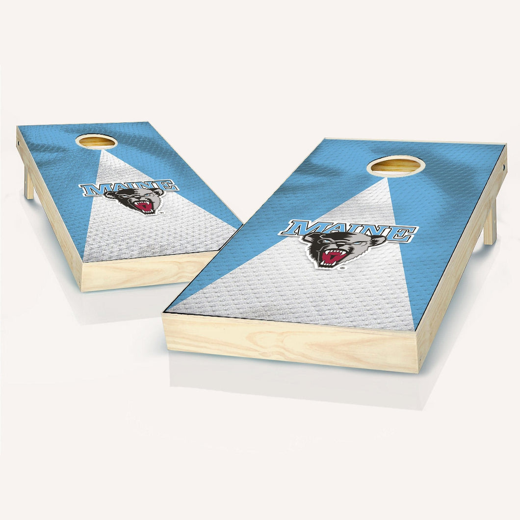 Maine Black Bears Jersey Cornhole Boards