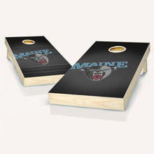 Load image into Gallery viewer, Maine Black Bears Slanted Cornhole Boards