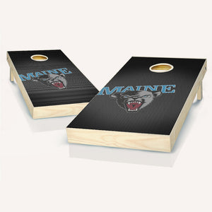 Maine Black Bears Slanted Cornhole Boards