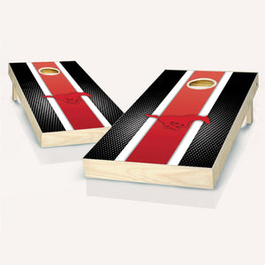 SMU Mustangs Stripe Cornhole Boards