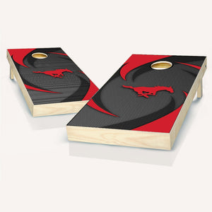 SMU Mustangs Swoosh Cornhole Boards