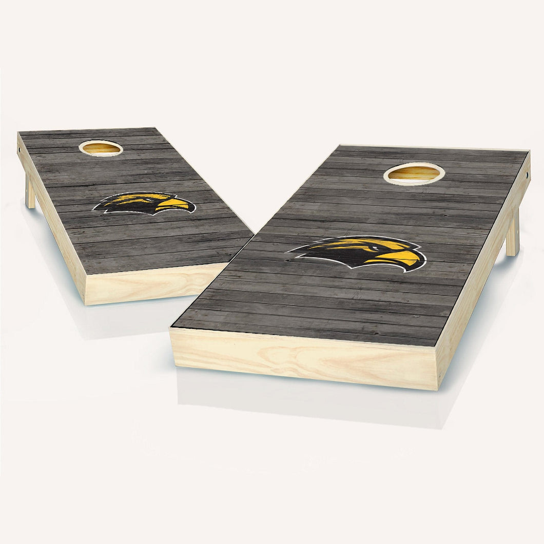 Southern Miss Golden Eagles Distressed Cornhole Boards