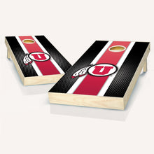 Load image into Gallery viewer, Utah Utes Striped Cornhole Boards