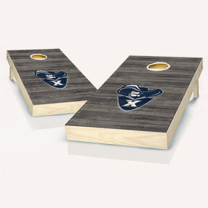 Xavier Muskateers Distressed Cornhole Boards