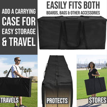 Load image into Gallery viewer, Louisiana Outline (Black) cornhole carry case