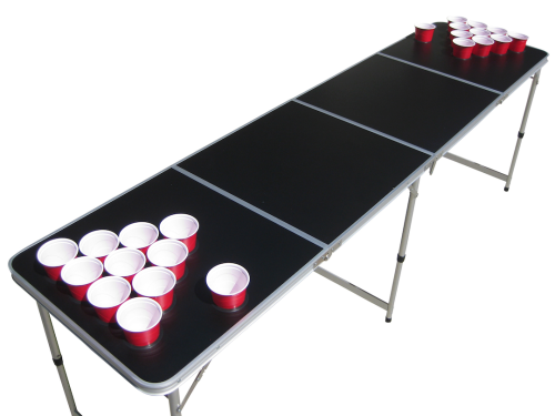 Black beer pong table