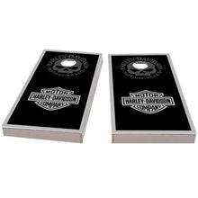 Load image into Gallery viewer, Harley Davidson Black Cornhole Boards