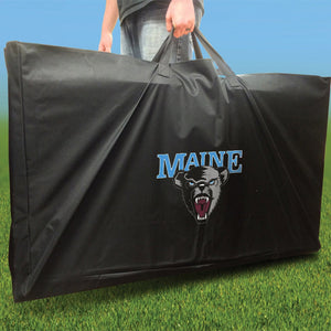 Maine Black Bears Distressed team logo carrying case