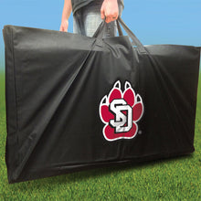 Load image into Gallery viewer, South Dakota Coyotes Stained Pyramid team logo carrying case