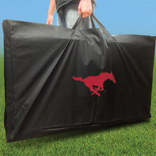 Load image into Gallery viewer, SMU Mustangs Distressed team logo carry case