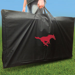SMU Mustangs Distressed team logo carry case