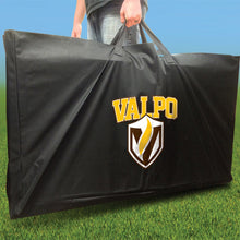 Load image into Gallery viewer, Valpo Crusaders Distressed team logo carry case