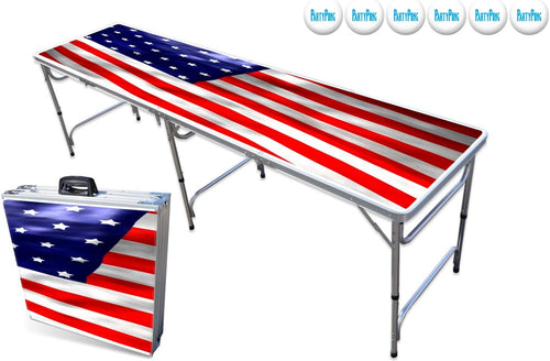 American Flag beer pong table