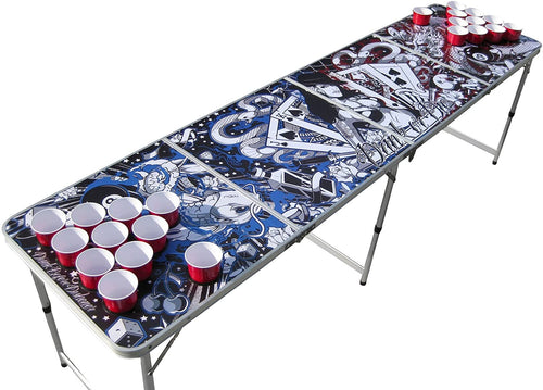 Tattoo beer pong table