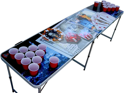Vegas Poker beer pong table