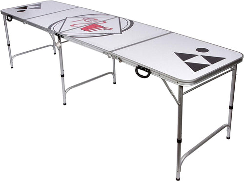 White beer pong table