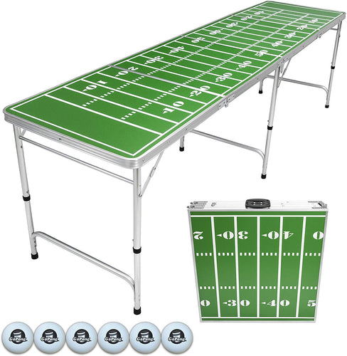 Football beer pong table