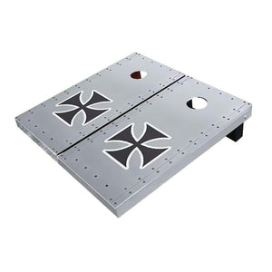 Rivet Iron Cross Cornhole Boards