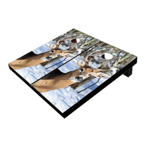 Deer In Snow Cornhole Boards