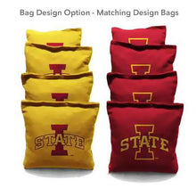 Load image into Gallery viewer, Iowa State Cyclone Field Alternating team logo cornhole