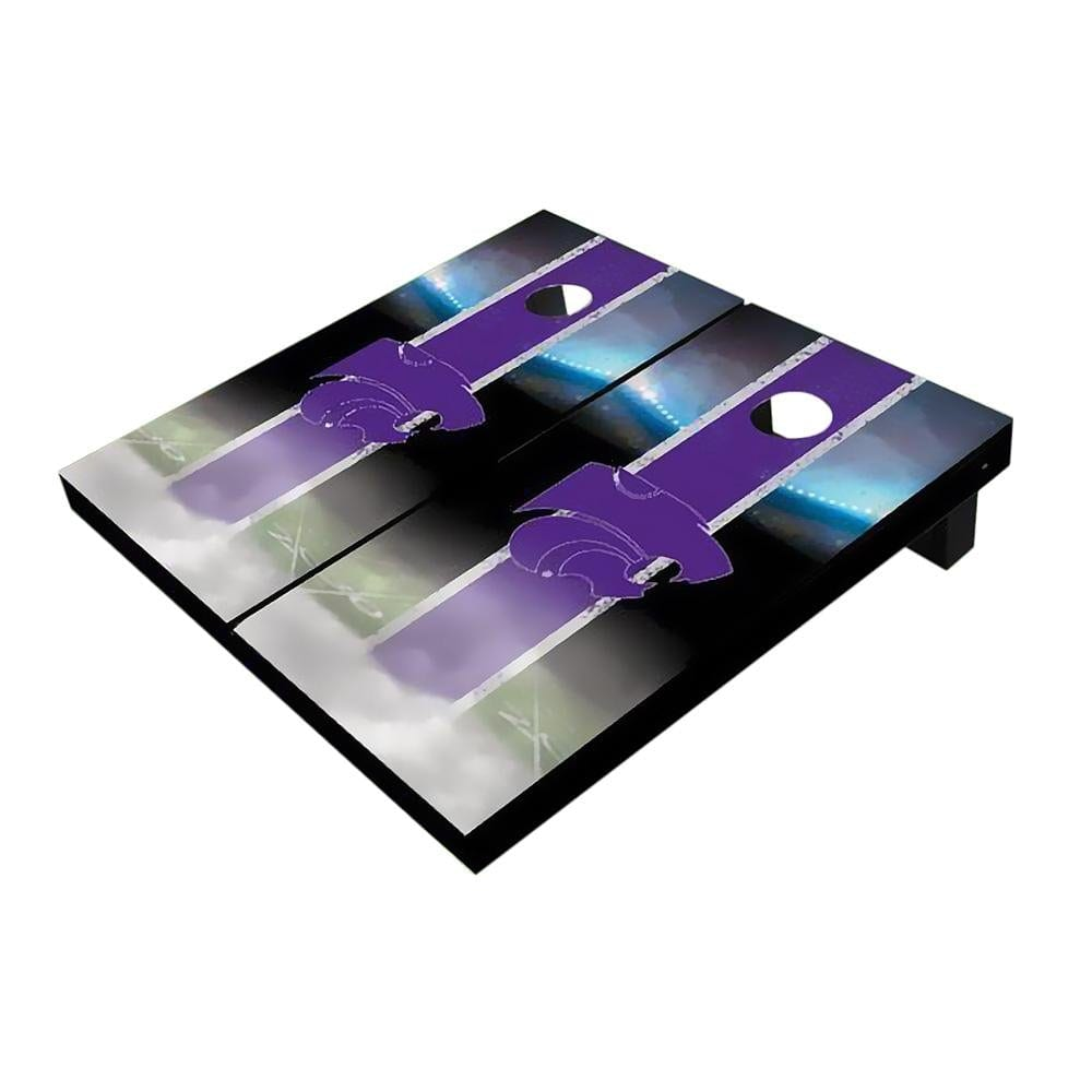 Kansas State Wildcats Field Purple Cornhole Boards