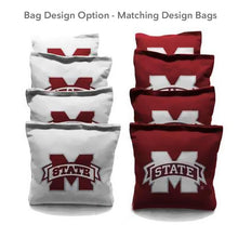 Load image into Gallery viewer, Mississippi State Triangle team logo cornhole