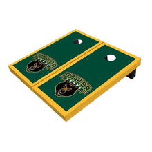 Load image into Gallery viewer, Baylor Bear Head Hunter Green Cornhole Boards