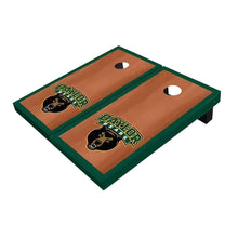 Load image into Gallery viewer, Baylor Bear Head Hunter Green Rosewood Cornhole Boards