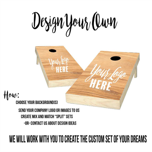custom design your own cornhole boards