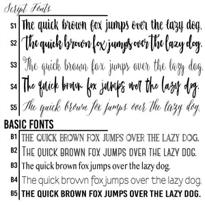 custom font options