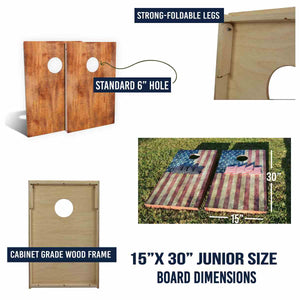 American Flag, Fireworks & Lady Liberty junior board specs