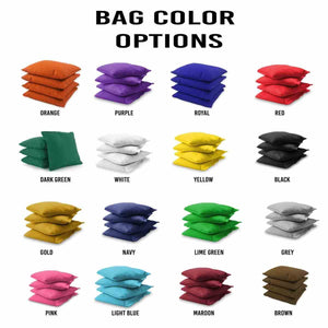 Gun Barrel cornhole bag colors