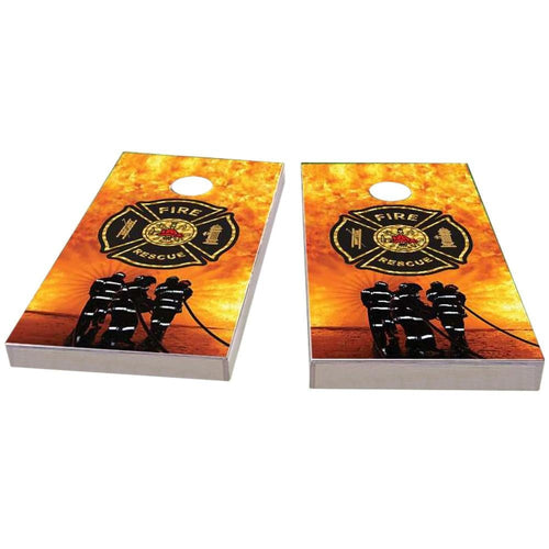 Firefighter Maltese Cross Cornhole Boards