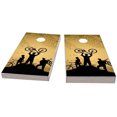 Mountain Biking Cornhole Boards