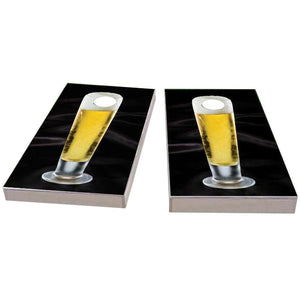 Nice Cold Tall Beer Cornhole Boards
