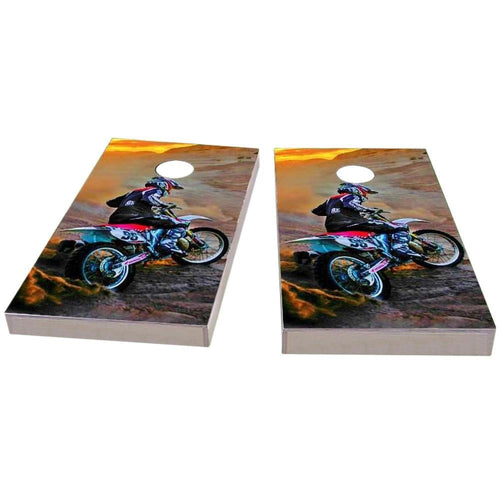 Riding Dirtbikes Cornhole Boards