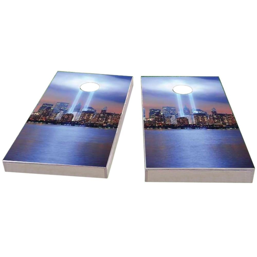 September 11th Light Memorial #1 Cornhole Boards