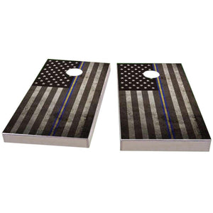 Thin Blue & Yellow (Coast Guard) Line Cornhole Boards