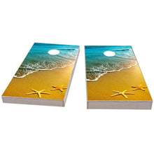 Load image into Gallery viewer, Beach Starfish Theme Cornhole Boards