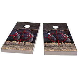 Turkey Hunting Theme #1 Cornhole Boards