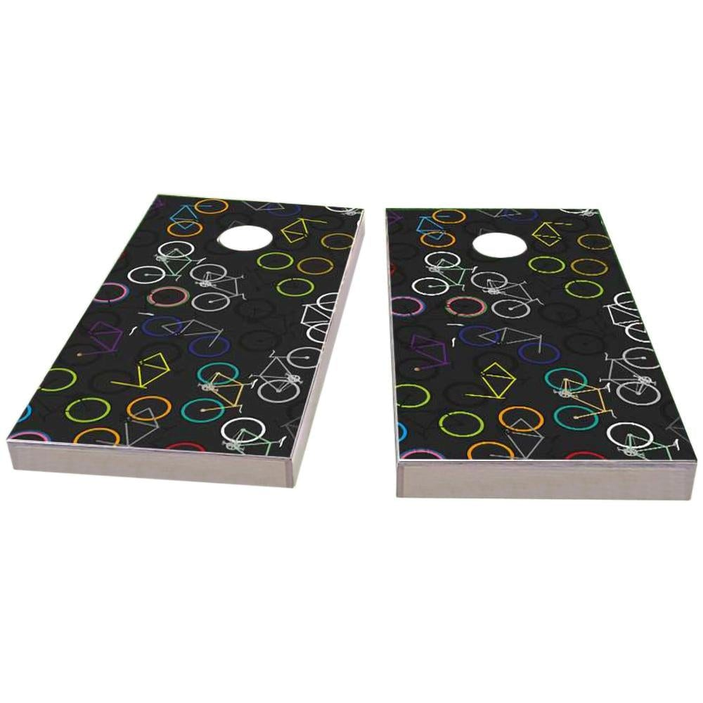 Bicycle Art Cornhole Boards