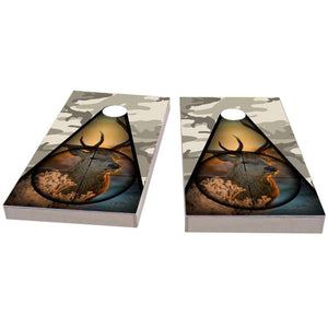 Deer Hunter & Camo Cornhole Boards