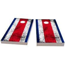 Load image into Gallery viewer, Costa Rica Worn Flag Cornhole Boards