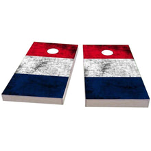 Load image into Gallery viewer, France Worn Flag Cornhole Boards