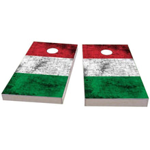 Load image into Gallery viewer, Italy Worn Flag Cornhole Boards